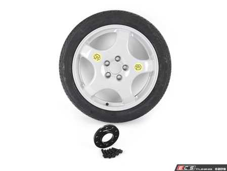 """ES#3988556 - 36116775450KT1 - 19"""" Emergency Spare Wheel/Tire Set - Includes space saver alloy wheel, Brigstone Ecopia tire, wheel spacer and bolts - Assembled By ECS - BMW"""