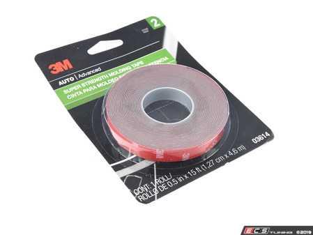 "ES#3673078 - 3614 - 3M Super Strength Molding Tape - 1/2"" x 15 ft roll - 3M - Audi BMW Volkswagen Mercedes Benz MINI Porsche"
