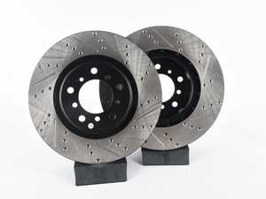 ES#4000794 - 82.133.510022SDA - StopTech Front 4 Piston Big Brake Kit (325x28mm) - *Scratch And Dent* - Comes with 4 piston blue calipers, single piece uncoated drilled rotors and stainless steel brake lines. - Includes brackets and mounting bolts - StopTech - BMW