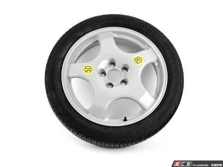 "ES#3985072 - 36116775450kt - 19"" Emergency Spare Wheel/Tire Set - Includes space saver alloy wheel & Bridgstone Ecopia tire - Assembled By ECS - BMW"