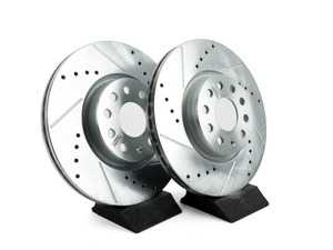 ES#3155373 - EBR898XPR - Front Cross-Drilled and Slotted Evolution Rotors - Pair (312x25) - Zinc coated performance rotors - Power Stop - Audi Volkswagen