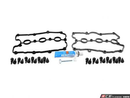 ES#3662304 - 06b103831jKT - Complete Valve Cover Gasket Kit - Includes gaskets, hardware, and silicone sealant for an all-inclusive service kit - Assembled By ECS - Audi