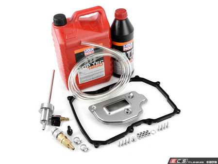 ES#3448782 - 09G398429ALMKT -  6 - Speed automatic transmission service kit - with Service Tool - Includes Liqui-Moly trans fluid, filter, drain plug with new seal, a pan gasket and the Schwaben Trans. Service Tool for a complete service. - Assembled By ECS - Volkswagen