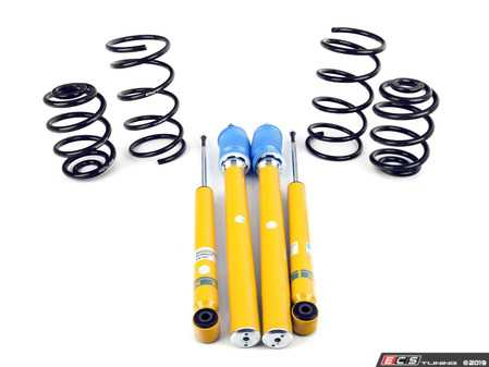 ES#2718042 - 46-180988 - B12 Pro-Kit Suspension System - E36 318ti - Expertly matched performance Eibach Pro-line lowering springs and Bilstein shock/strut package for a dramatic increase in performance handling. World-famous Bilstein quality with a limited lifetime warranty! - Bilstein - BMW