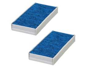 ES#4004068 - 64119321875BF - Bluecare Cabin Filter Active Carbon Set E3950LB-2 - State of the art cabin filters that utilize a Biofunctional layer to protect you and your family from airborne bacteria, viruses, mold, and spores. - Hengst - MINI