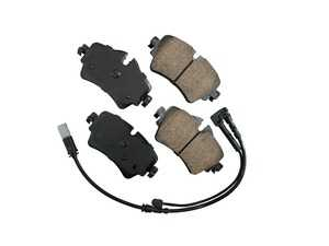 ES#3677485 - EUR1801 - Front Euro Ceramic Brake Pad Set EUR1801 - Restore the stopping power in your MINI, comes with front brake sensor - Akebono - MINI