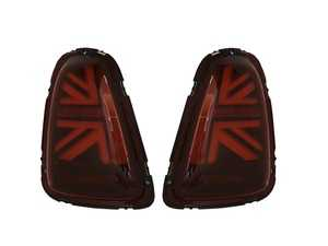 ES#4004411 - HMINI11TL-R - MINI Cooper Union Jack LED Red Lens/Black/Red Led Taillights R56 R57 R58 R59 2011-2015 - Set  - Upgrade to Union Jack design tail lights for your MINI F56 style Union Jack but for the R56-R59 Platform - Helix - MINI
