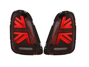 ES#4004410 - HMINI07TL-R - MINI Cooper Union Jack LED Red Lens/Black/Red Led Taillights R56 R57 2007-2010 - Set  - Upgrade to Union Jack design tail lights for your MINI F56 style Union Jack but for the R56-R57 Platform - Helix - MINI