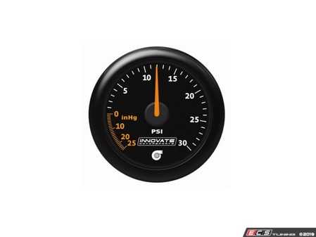 ES#4004416 - inn3908 - MTX-A: 30 PSI Vacuum / Boost Gauge - 52mm gauge offering superior needle holding force and high performance 270 Stepper Motor - Innovate Motorsports - Audi BMW Volkswagen