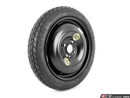 """ES#3970699 - 3611150916411570 - 15"""" Emergency Spare Wheel/Tire Set - Includes Genuine MINI 15x3.5"""" ET35 steel wheel with mounted and balanced Kumho 115/70/15 tire. - Assembled By ECS - MINI"""