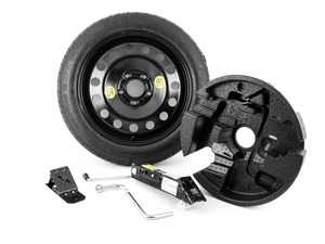 "ES#3985135 - 71116758781KT - Spare Tire Kit 17"" - Includes Genuine BMW 17"" steel wheel with mounted & balanced Kumho tire - plus the tools you need to change your tire on the side of the road. - Assembled By ECS - BMW"