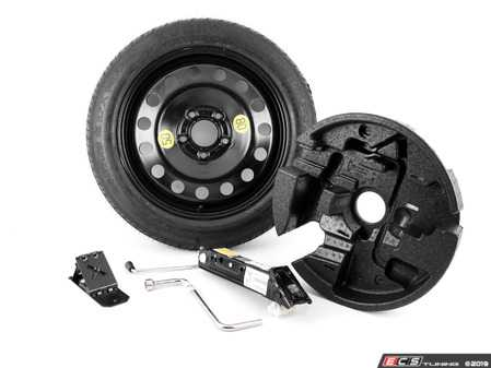 """ES#3985135 - 71116758781KT - Spare Tire Kit 17"""" - Includes Genuine BMW 17"""" steel wheel with mounted & balanced Kumho tire - plus the tools you need to change your tire on the side of the road. - Assembled By ECS - BMW"""