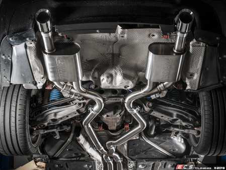 ES#4004814 - 003378tmsKT2 - Turner Motorsport Turbo Back Exhaust  - Turbo Back Exhaust system with Turner High flow cats. Combines Turner Downpipes and Catback exhaust! For E90 & E92 N54 cars. - Turner Motorsport - BMW