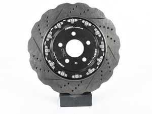 ES#4004719 - 003281ecs02012kt - Front 2-Piece Wave Brake Rotors - Pair (365x34) - *Scratch And Dent* - Direct bolt-on upgrade to Tru-Float wave style rotors - ECS - Audi