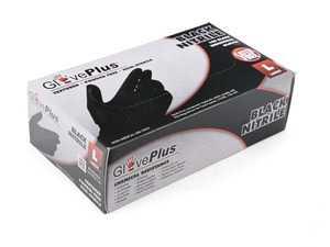 ES#3674425 - GPNB46100 - GlovePlus Black Nitrile Gloves  - Keeps hands free of dirt and oil, large - Ammex - Audi BMW Volkswagen Mercedes Benz MINI Porsche