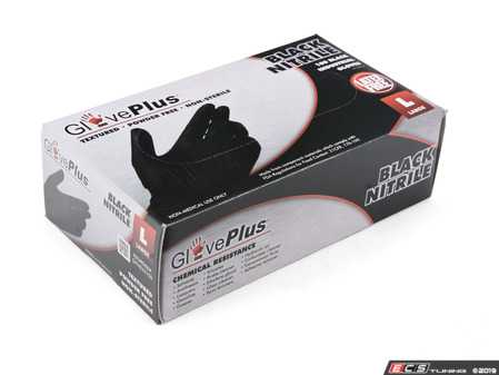 ES#3674425 - GPNB46100 - GlovePlus Black Nitrile Gloves  - Keeps hands free of dirt and oil, large - Ammex - Audi BMW Volkswagen Mercedes Benz MINI Porsche