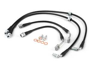 ES#3638913 - 034-303-0018 - Stainless Steel Braided Brake Line Kit - Will not bulge or expand with brake pressure, resulting in improved pedal feel, and more consistent braking performance. - 034Motorsport - Audi