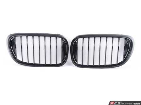 ES#3982458 - ATK-BM-0301-GB - AutoTecknic Gloss Black Kidney Grilles  - Package includes one pair of passenger and driver side direct OEM replacement front grilles - AUTOTECKNIC - BMW