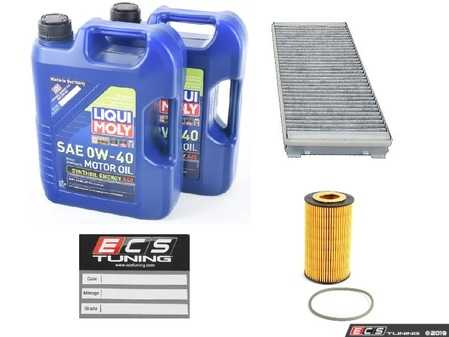 ES#4005011 - 99630KMAINTKT - 99-01 3.4L 996 30K Minor Maintenance Kit - Featuring Porsche A40 Spec Approved Liqui-Moly Synthoil Energy 0w-40 and OE Manufacturer Hengst Oil and Cabin Filter - Assembled By ECS - Porsche