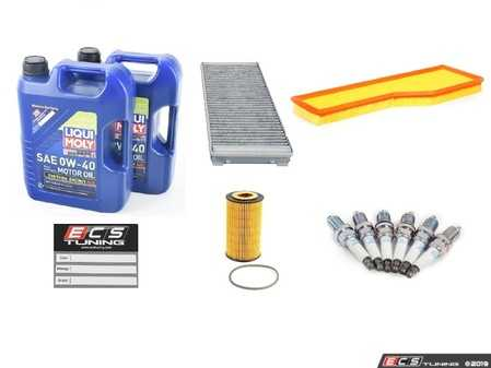 ES#4005012 - 99630KMAINTKT1 - 99-01 3.4L 996 30K Major Maintenance Kit - Featuring Porsche A40 Spec Approved Liqui-Moly Synthoil Energy 0w-40, OE Manufacturer Hengst Oil / Cabin Filter / Air Filter, and NGK BKR6EKUB Spark Plugs - Assembled By ECS - Porsche