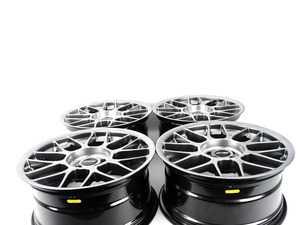 """ES#3980669 - arc8178et25KT2 - 17"""" APEX ARC-8 Square Wheel Set - Hyper Black  - 17x8"""" ET25 4x100 - APEX Wheels - BMW"""