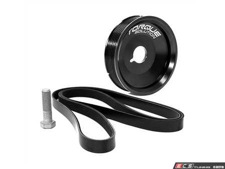 ES#4005116 - TS-POR-458AC - Torque Solution Underdrive Crank Pulley Kit - Smaller, lighter crank pulley for faster revs and increased throttle response - Torque Solution - Porsche
