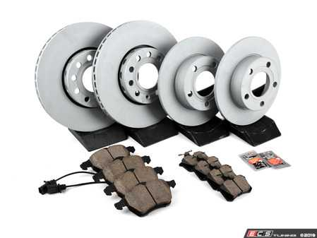 ES#3184256 - 8E0615301QKT1 - Front & Rear Premium Brake Service Kit - Featuring Zimmerman rotors and Akebono Euro Ceramic pads - Assembled By ECS - Audi