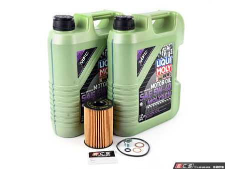 ES#4005326 - 11427583220KT6 - Liqui Moly Top Tec Oil Change Kit  - Includes ten liters of Liqui Moly New Generation 5w-40 synthetic engine oil, Hengst oil filter and new drain plug - Assembled By ECS - BMW