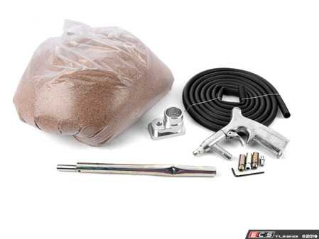 ES#4000811 - 034-108-Z054KT - Audi & VW Direct Injection Carbon Cleaning Kit - Level 1  - Featuring Bimmerhelp's direct injection port cleaning tool, walnut shell blast media (15lbs), and a 'blast out of a bucket' media blaster attachment - Assembled By ECS - Audi Volkswagen
