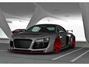 ES#4006994 - AU-R8-1-BK1 -  Complete Body Kit - Audi MKI R8 - Complete Aero kit includes front bumper, rear bumper, wide body fenders, spoiler, side skirts, and splitters for an aggressive conversion! - Maxton Design - Audi