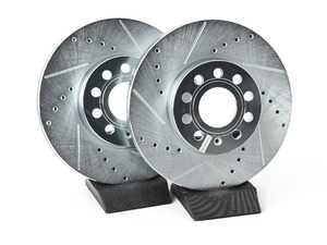 ES#3155316 - EBR830XPR - Front Cross-Drilled and Slotted Evolution Rotors - Pair (288x25) - Zinc coated performance rotors - Power Stop - Audi Volkswagen