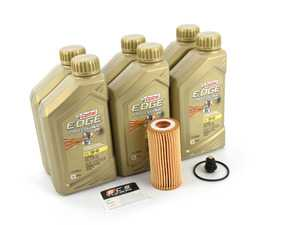 ES#4006932 - 06L115562KT12 - Genuine Oil Service Kit (5w-40) - With Magnetic Drain Plug - Includes 5w-40 Genuine oil, filter, and ECS Magnetic Drain Plug - Assembled By ECS - Audi Volkswagen