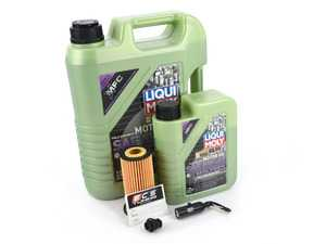 ES#4006931 - 06L115562KT11 - Liqui Moly MolyGen - Oil Service Kit (5w-40) - With Magnetic Drain Plug - Includes Hengst oil filter, Liqui Moly 5w-40 oil with MolyGen technology and ECS Magnetic Drain Plug - Assembled By ECS - Audi Volkswagen