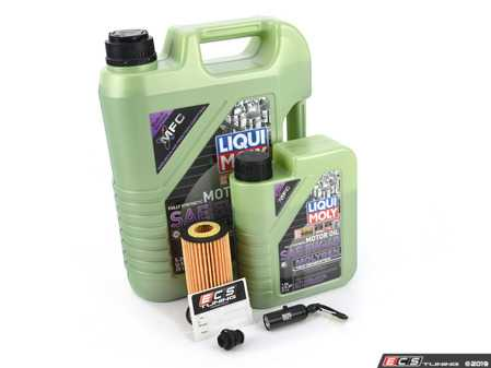 ES#4006931 - 06L115562KT11 - Liqui Moly MolyGen - Oil Service Kit (5w-40) - With Magnetic Drain Plug - Includes Hengst oil filter, Liqui Moly 5w-40 oil with MolyGen technology and ECS Magnetic Drain Plug - Assembled By ECS - Audi Volkswagen