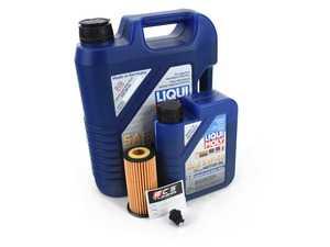 ES#4006930 - 06L115562KT10 - Liqui Moly Leichtlauf Oil Service Kit (5w-40) - With Magnetic Drain Plug - Includes Hengst oil filter, Liqui Moly Leichtlauf High Tech 5w-40 oil and ECS Magnetic Drain Plug - Assembled By ECS - Audi Volkswagen
