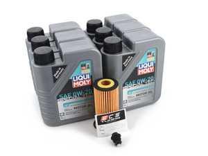 ES#4006985 - 06L115562KT24 - Liqui Moly Special Tec Oil Service Kit (0w-20) - ECS Magnetic Drain Plug - Includes Liqui Moly Special Tec 0w-20 oil, filter and ECS Magnetic Drain Plug for a complete oil service - Assembled By ECS - Audi Volkswagen