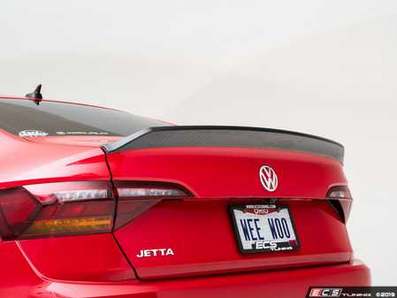 ES#3660008 - 027378ECS01 - MK7 Jetta Trunk Spoiler - Carbon Fiber  - Add a touch of style and real carbon fiber to your VW! - ECS - Volkswagen