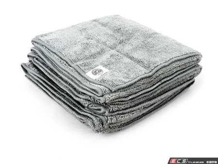 """ES#3450610 - MIC36003 - Workhorse Gray Professional Grade Microfiber Towels - (16"""" X 24"""") - 3 Pack - Great all around cleaning towel - Chemical Guys - Audi BMW Volkswagen Mercedes Benz MINI Porsche"""