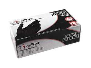 ES#3674427 - GPNB49100 - GlovePlus Black Nitrile Gloves  - Keeps hands free of dirt and oil, size 2X large. - Ammex - Audi BMW Volkswagen Mercedes Benz MINI Porsche