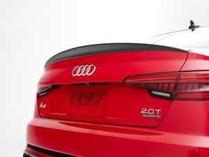ES#3981207 - 028801ECS01 - Audi B9 S4/A4 Trunk Spoiler - Gloss Black - Add some aggressive styling to your Audi! - ECS - Audi