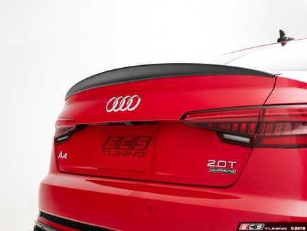 ES#3981207 - 028801ECS01 - Audi B9 S4/A4 Trunk Spoiler - Gloss Black - Add some aggressive styling to your Audi! - ECS - Audi