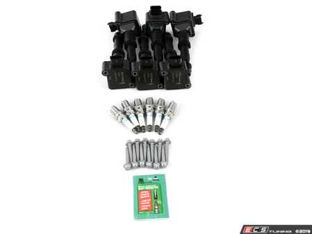 ES#3669082 - 99760210402KT1 - Beru Ignition Coil Update Kit with NGK Plugs - Includes updated coils, NGK BKR7EQUP, and mounting hardware - Assembled By ECS - Porsche