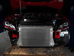 ES#3677516 - 023092ECS01KT -  MQB Cast Aluminum Intercooler Upgrade - Bolt on up to +20 WHP / +18 WTQ and drop inlet temps by 90 F with our In-House Engineered OE-Location Intercooler Upgrade! - ECS - Audi Volkswagen