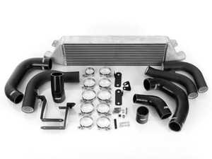 ES#4007071 - 023624ECS02-01KT - MK7 Front Mount Intercooler Kit - With Black ECS Charge Pipes - Bolt on up to +24 WHP / +18 WTQ and lower intercooler outlet temps by 80 F with our In-House Engineered FMIC Kit! - ECS - Volkswagen