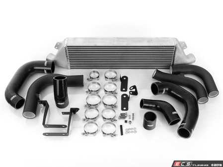 ES#4007071 - 023624ECS02-01KT - MK7 Front Mount Intercooler Kit - With Black ECS Charge Pipes - Bolt on up to +24 WHP / +18 WTQ and drop inlet temps by 15 F with our In-House Engineered FMIC Kit! - ECS - Volkswagen