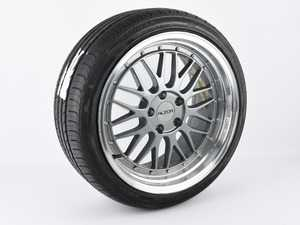 """ES#4013779 - 3697449PDKCSSD - 18"""" Alzor Style 020 Wheel & Tire Package - 225/40/18 Tires - Priced Each (Only 1 Available) *Scratch And Dent* - 18""""x9"""" ET30 66.6CB 5x112 - Gunmetal with Polished Lip & Ironman iMove Gen 2 AS Tires *Please see description prior to ordering* - Assembled By ECS - Audi Volkswagen"""