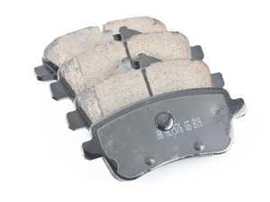 ES#3980585 - EUR1630 - Rear Premium Ceramic Brake Pad Set - Includes Shims and Brake Pad Sensors - Akebono - Mercedes Benz