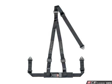 ES#4005598 - 43001B - Black 3-Point Bolt-In - Upgrade your factory seat belts with these Corbeau 3-Point Harness belts - Corbeau - Audi BMW Volkswagen Mercedes Benz MINI Porsche