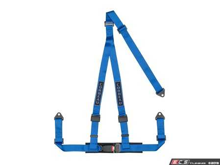 ES#4005599 - 43005B - Blue 3-Point Bolt-In - Upgrade your factory seat belts with these Corbeau 3-Point Harness belts - Corbeau - Audi BMW Volkswagen Mercedes Benz MINI Porsche
