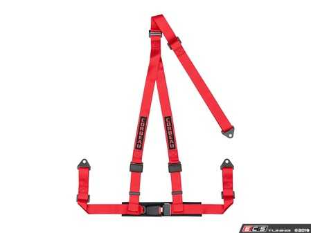 ES#4005600 - 43007B - Red 3-Point Bolt-In - Upgrade your factory seat belts with these Corbeau 3-Point Harness belts - Corbeau - Audi BMW Volkswagen Mercedes Benz MINI Porsche
